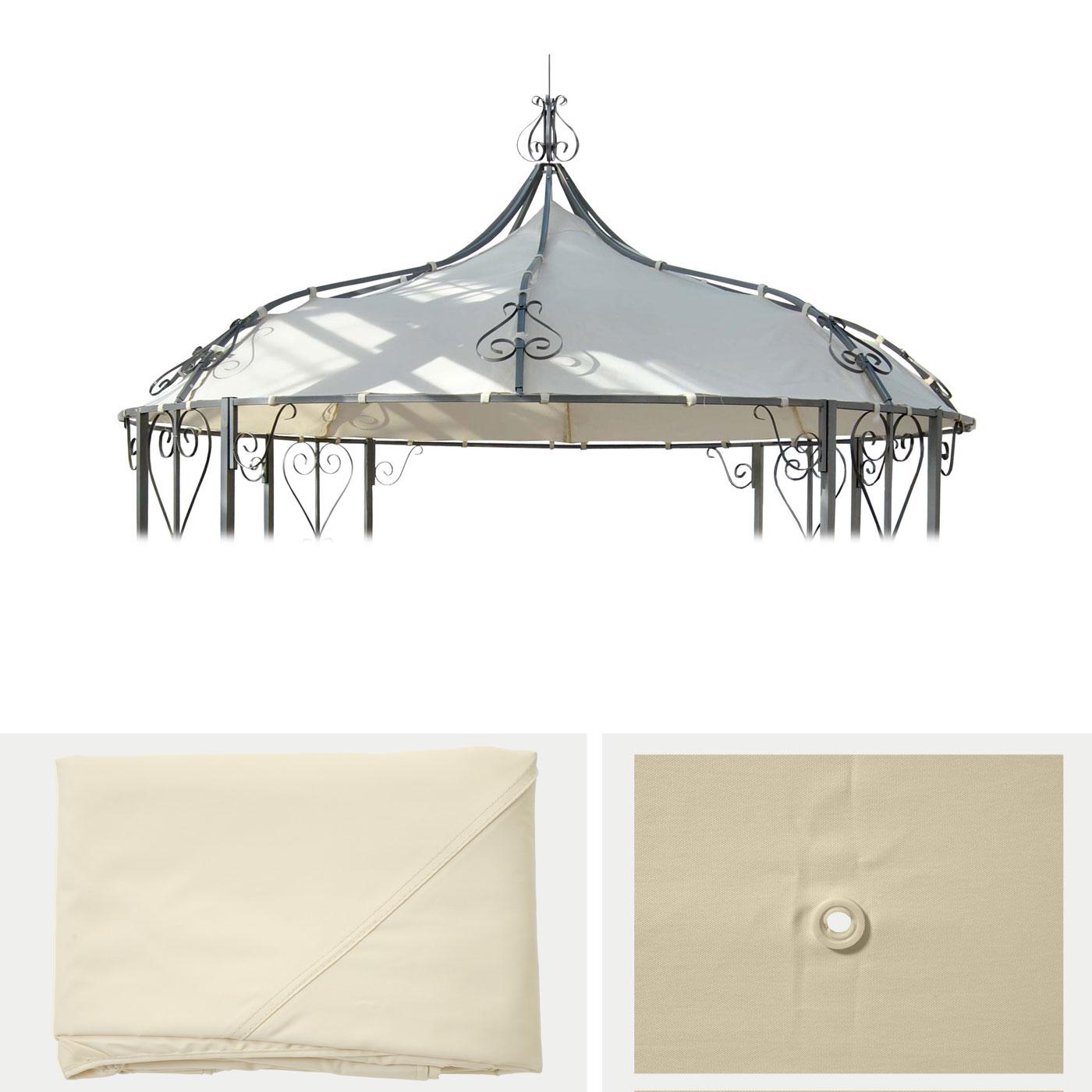 ersatzbezug f r dach pergola pavillon almeria 3m creme. Black Bedroom Furniture Sets. Home Design Ideas