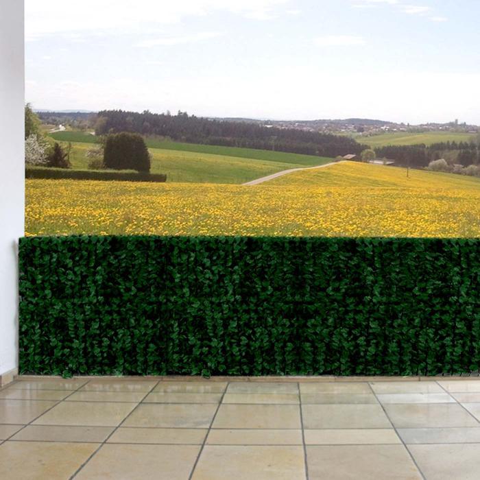 sichtschutz windschutz verkleidung f r balkon terrasse zaun blatt dunkel 300 x 150 cm. Black Bedroom Furniture Sets. Home Design Ideas