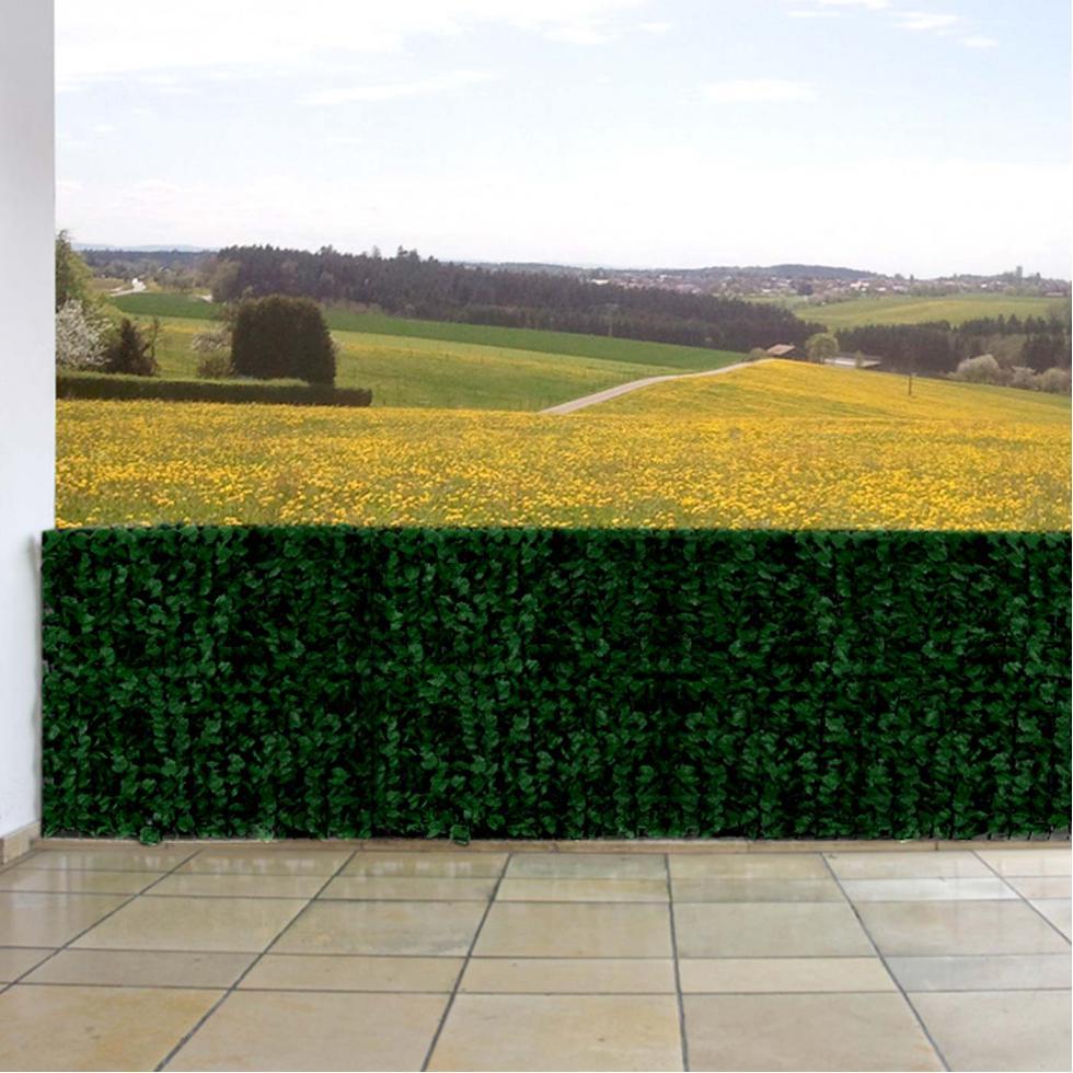 sichtschutz windschutz f r balkon terrasse zaun blatt dunkel 300x100cm. Black Bedroom Furniture Sets. Home Design Ideas