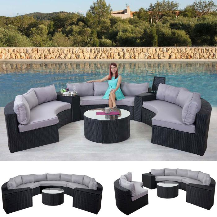 luxus poly rattan garnitur savoie sitzgruppe lounge set. Black Bedroom Furniture Sets. Home Design Ideas