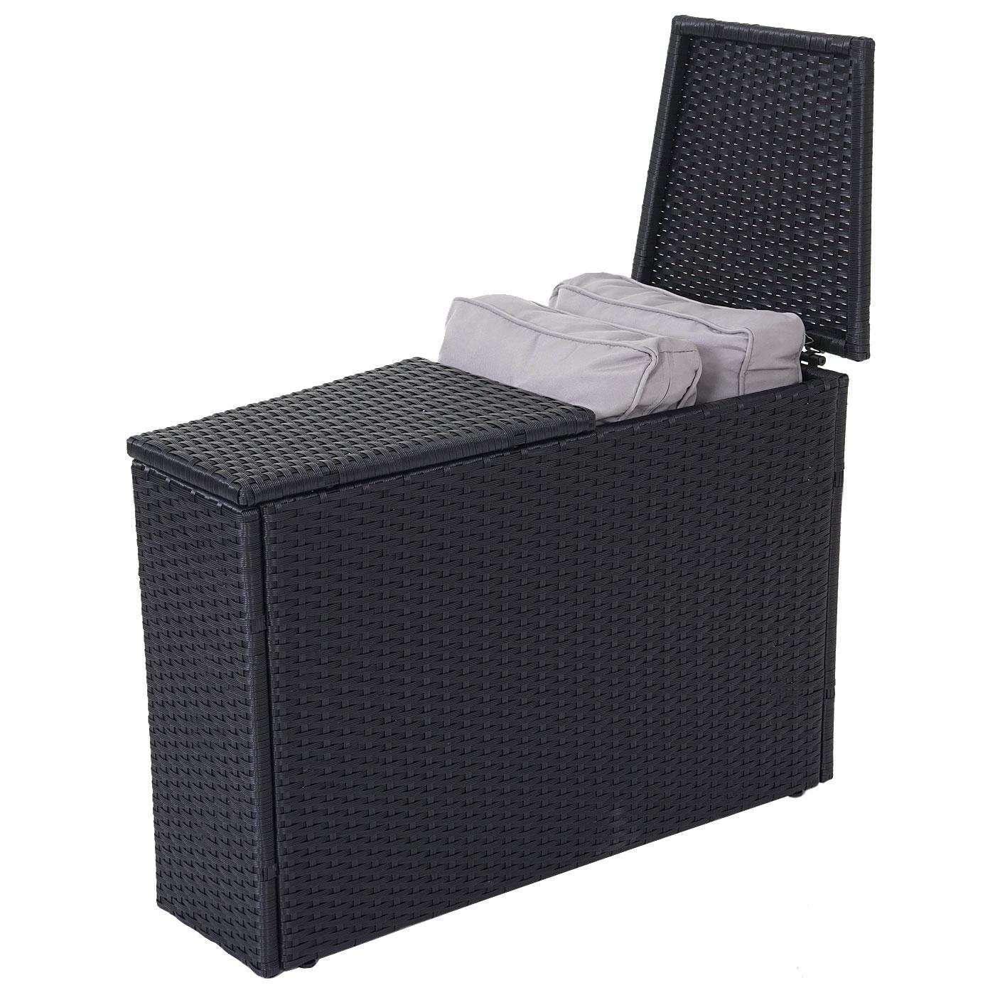 luxus poly rattan garnitur savoie sitzgruppe lounge set xxl rund anthrazit kissen grau. Black Bedroom Furniture Sets. Home Design Ideas