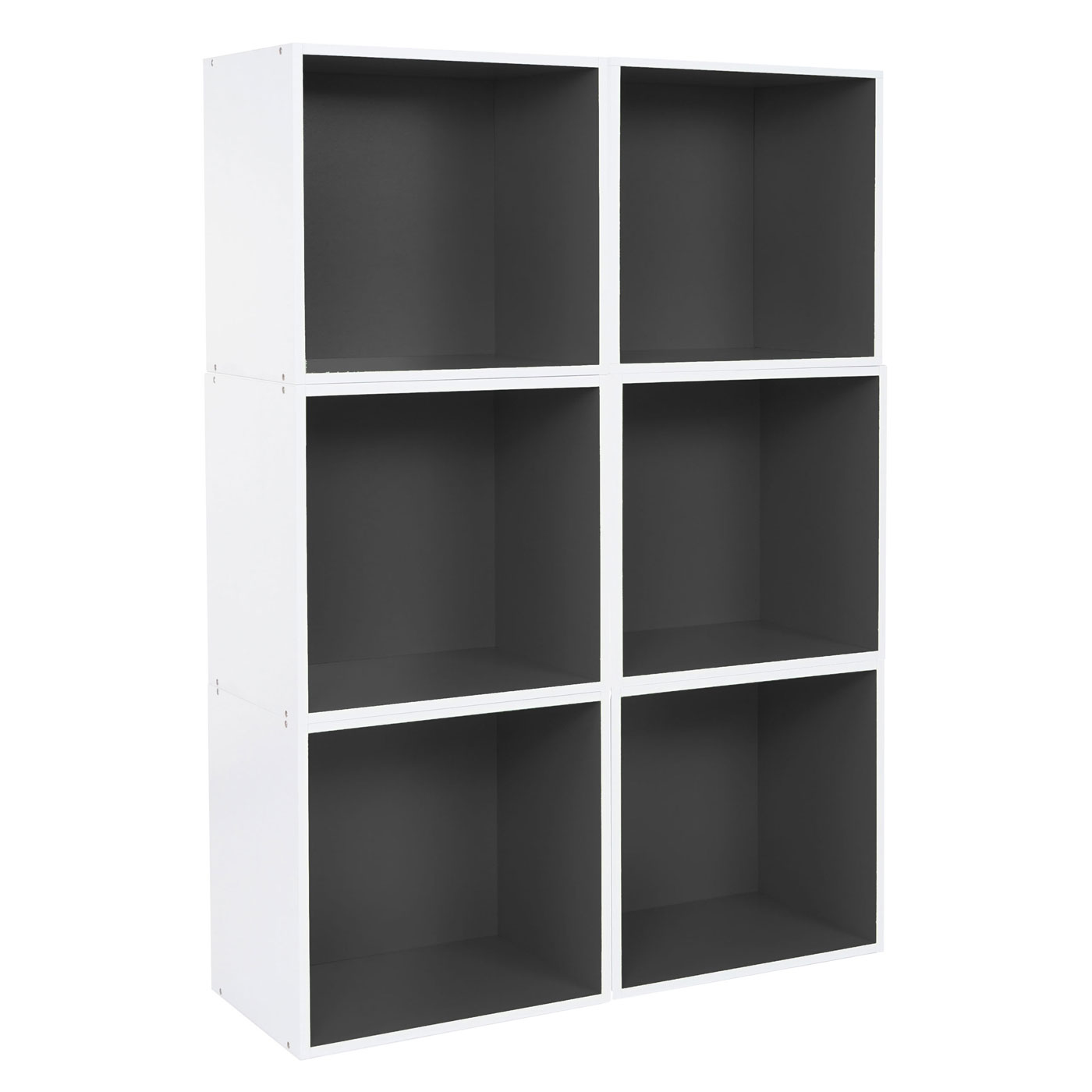 6x tag re cube falun tag re ind pendante biblioth que 39x39x29cm noir ebay. Black Bedroom Furniture Sets. Home Design Ideas
