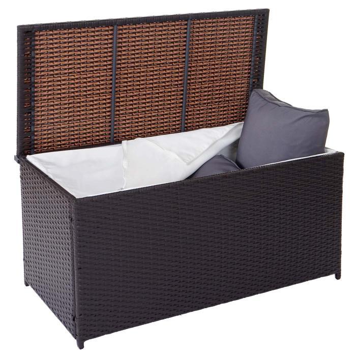 poly rattan kissenbox barry truhe auflagenbox gartenbox 290l braun. Black Bedroom Furniture Sets. Home Design Ideas