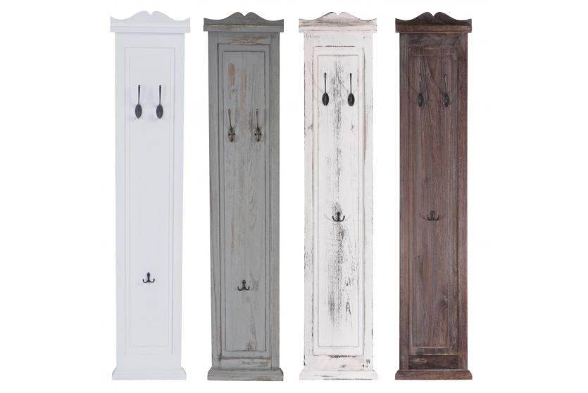 2x garderobe wandgarderobe garderobenpaneel wandhaken 109x28x4cm wei shabby. Black Bedroom Furniture Sets. Home Design Ideas