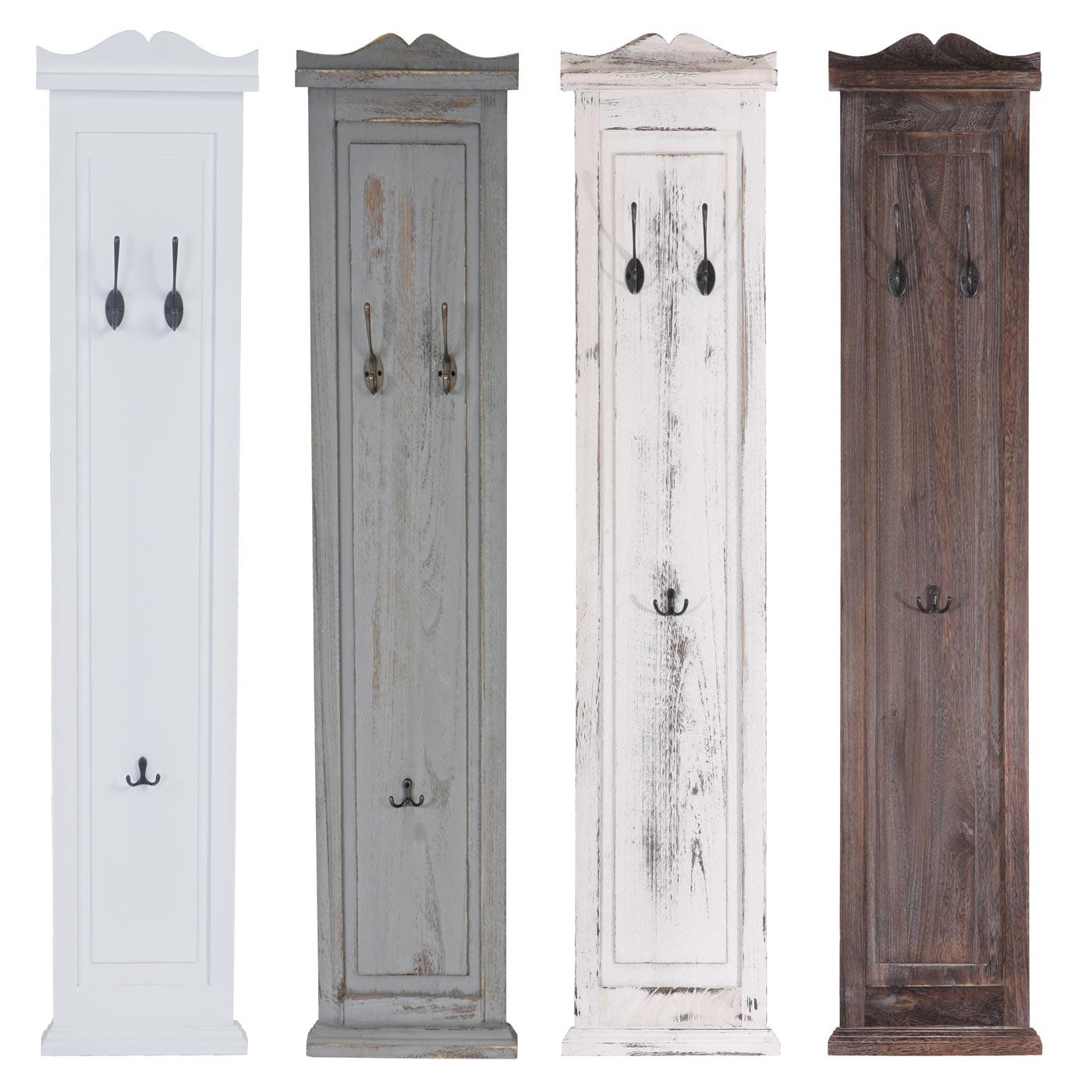 Wundervoll Garderobenpaneel Buche Dekoration Von 2x Garderobe Wandgarderobe Wandhaken 109x28x4cm ~ Weiß