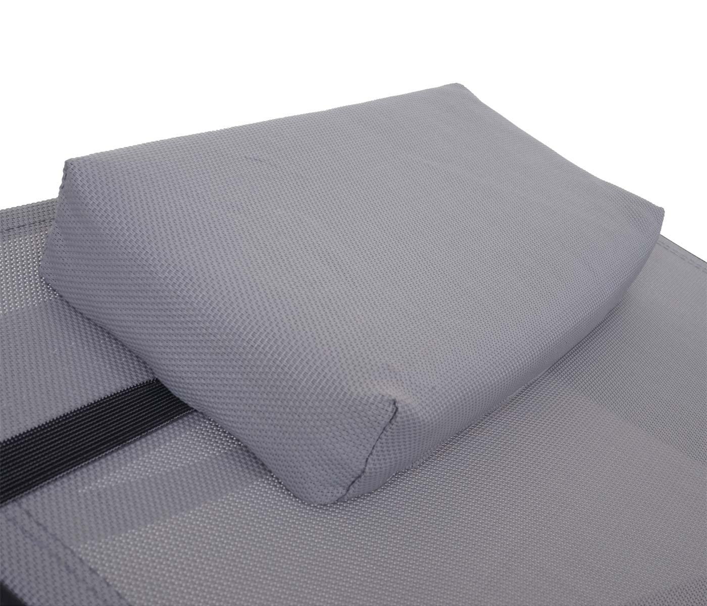 sonnenliege phoenix relaxliege gartenliege liege poly rattan braun meliert bezug grau. Black Bedroom Furniture Sets. Home Design Ideas