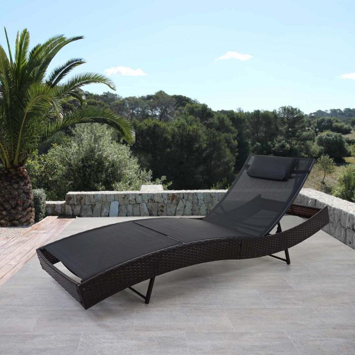Sonnenliege Savannah, Relaxliege Gartenliege Liege, Poly-Rattan ...