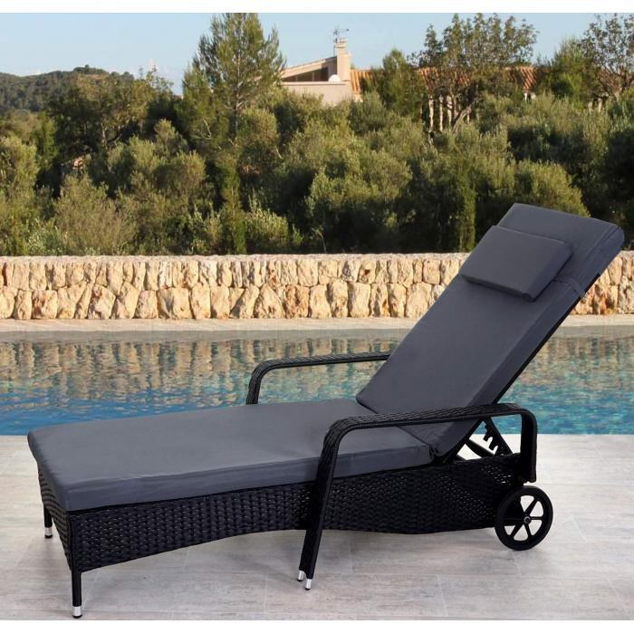 poly rattan sonnenliege carrara relaxliege gartenliege. Black Bedroom Furniture Sets. Home Design Ideas