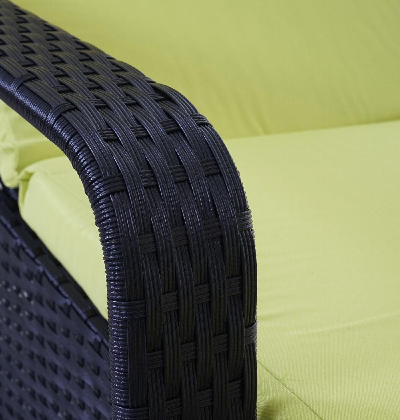 poly rattan sonnenliege carrara relaxliege gartenliege liege alu anthrazit kissen hellgr n. Black Bedroom Furniture Sets. Home Design Ideas