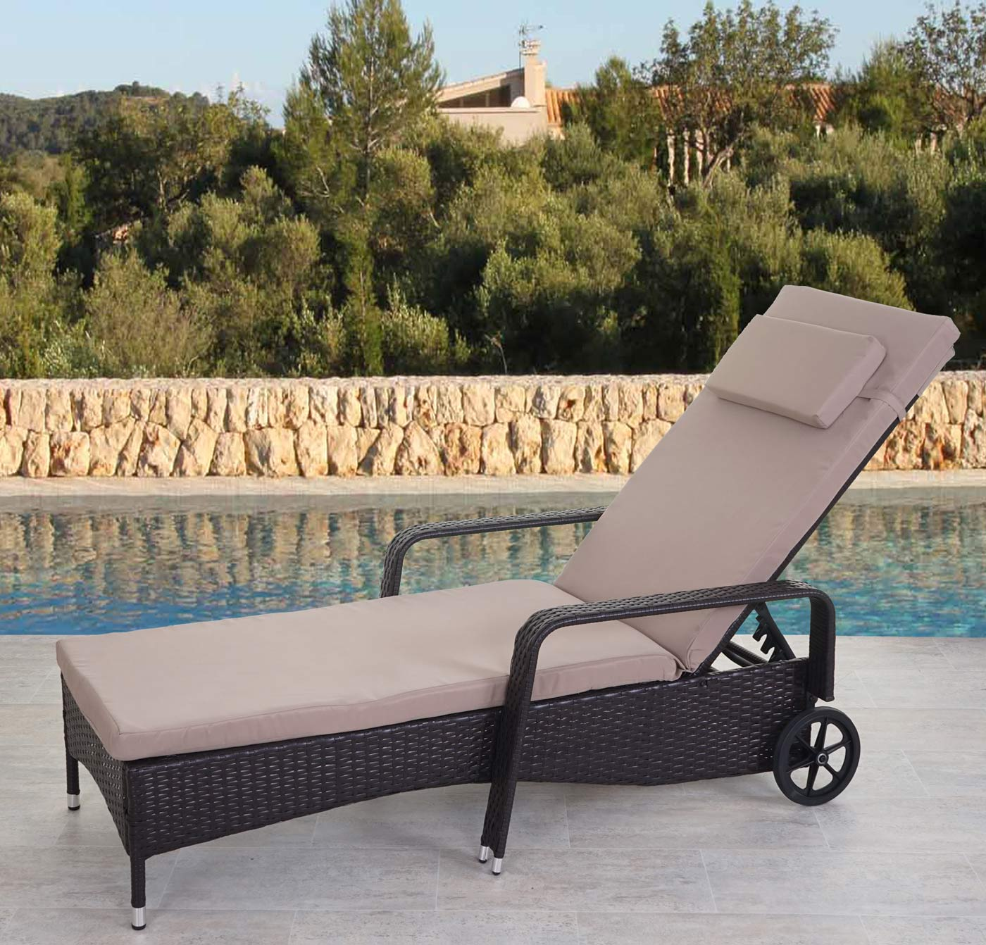 poly rattan sonnenliege carrara relaxliege gartenliege liege alu ebay. Black Bedroom Furniture Sets. Home Design Ideas