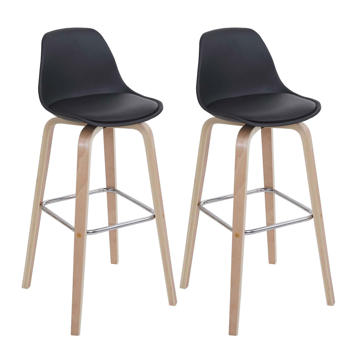 2x barhocker hwc a89 barstuhl tresenhocker mit lehne. Black Bedroom Furniture Sets. Home Design Ideas