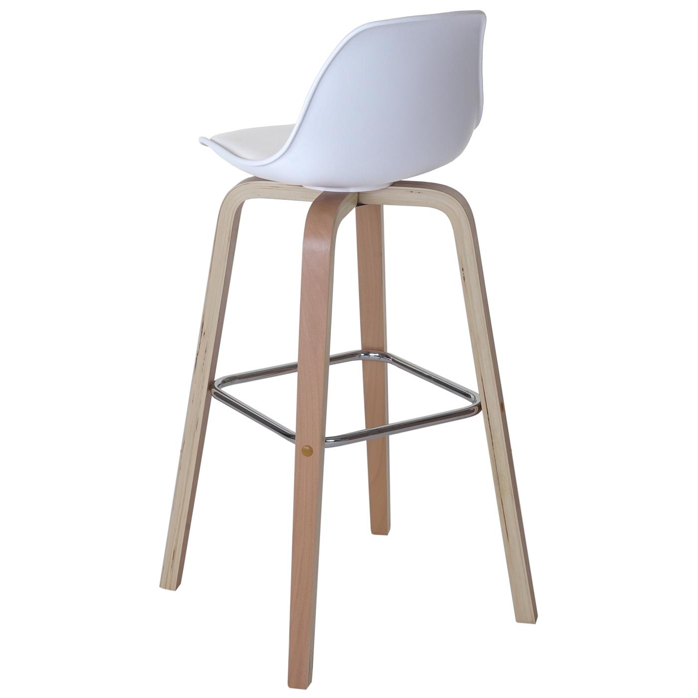 2x tabouret de bar palmdale chaise de comptoir avec dossier tissu blanc ebay. Black Bedroom Furniture Sets. Home Design Ideas