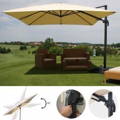 gartenschirm tisch sonnenschirm sonnenschirm aluminium tallus superalux kronos. Black Bedroom Furniture Sets. Home Design Ideas