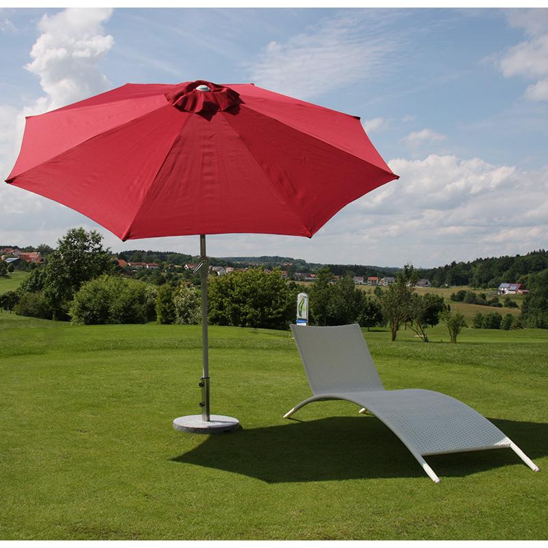 Sonnenschirm N19 Anwendungsbeispiel mit Schirmständer
