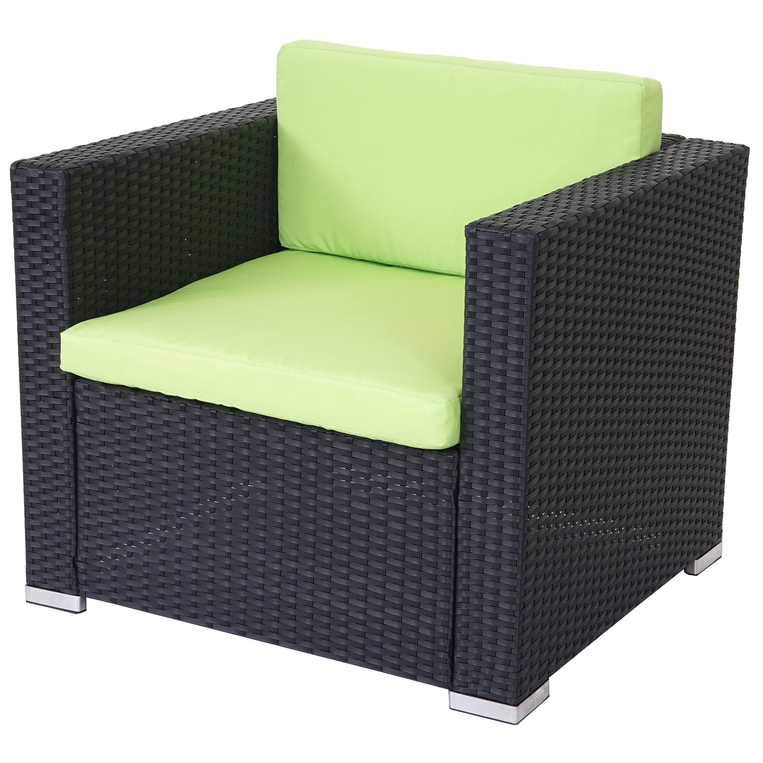 Erstaunlich Sofa Grün Sammlung Von Modulares Poly-rattan Rom Basic, Sessel Loungesessel, Alu