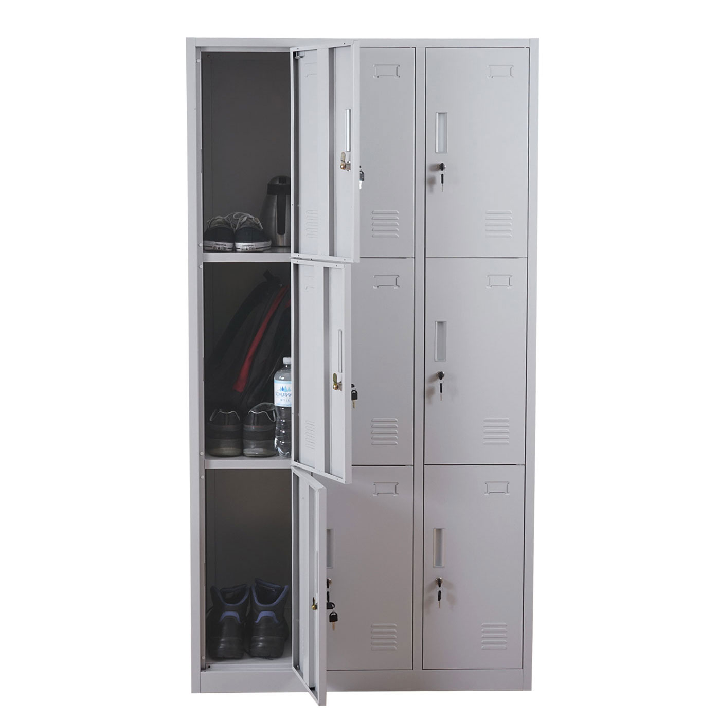 schlie fach boston t829 wertfachschrank spind metall 9 18 f cher ebay. Black Bedroom Furniture Sets. Home Design Ideas
