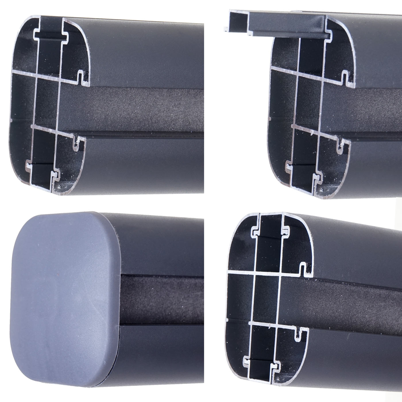 wpc pare vue sarthe abat vent cl ture aluminium lot de 2 3 75m gris ebay. Black Bedroom Furniture Sets. Home Design Ideas
