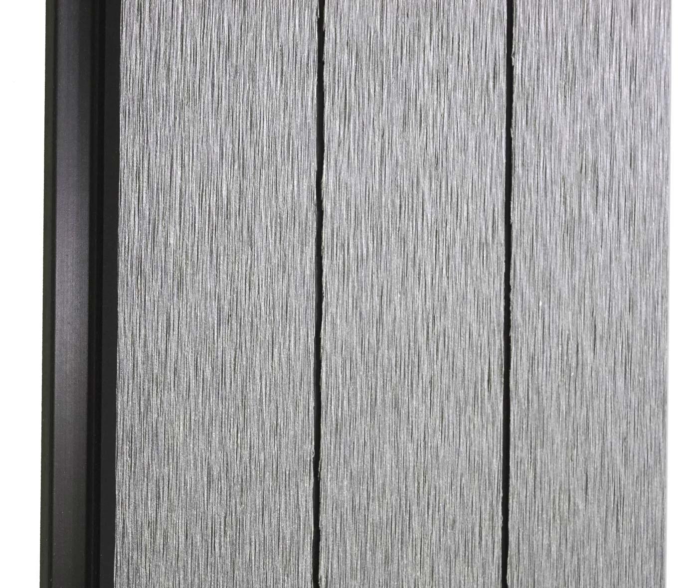 wpc sichtschutz savoie windschutz zaun alu basiselement. Black Bedroom Furniture Sets. Home Design Ideas