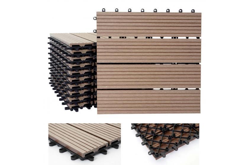 wpc holz fliese rhone bodenfliesen balkon terrasse 11. Black Bedroom Furniture Sets. Home Design Ideas