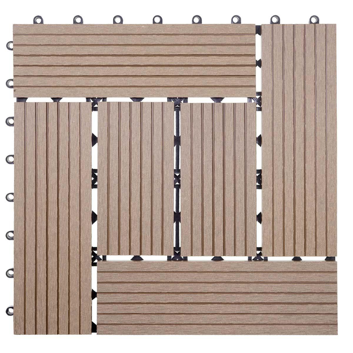 1qm wpc holz fliesen sarthe bodenfliesen balkon terrasse. Black Bedroom Furniture Sets. Home Design Ideas