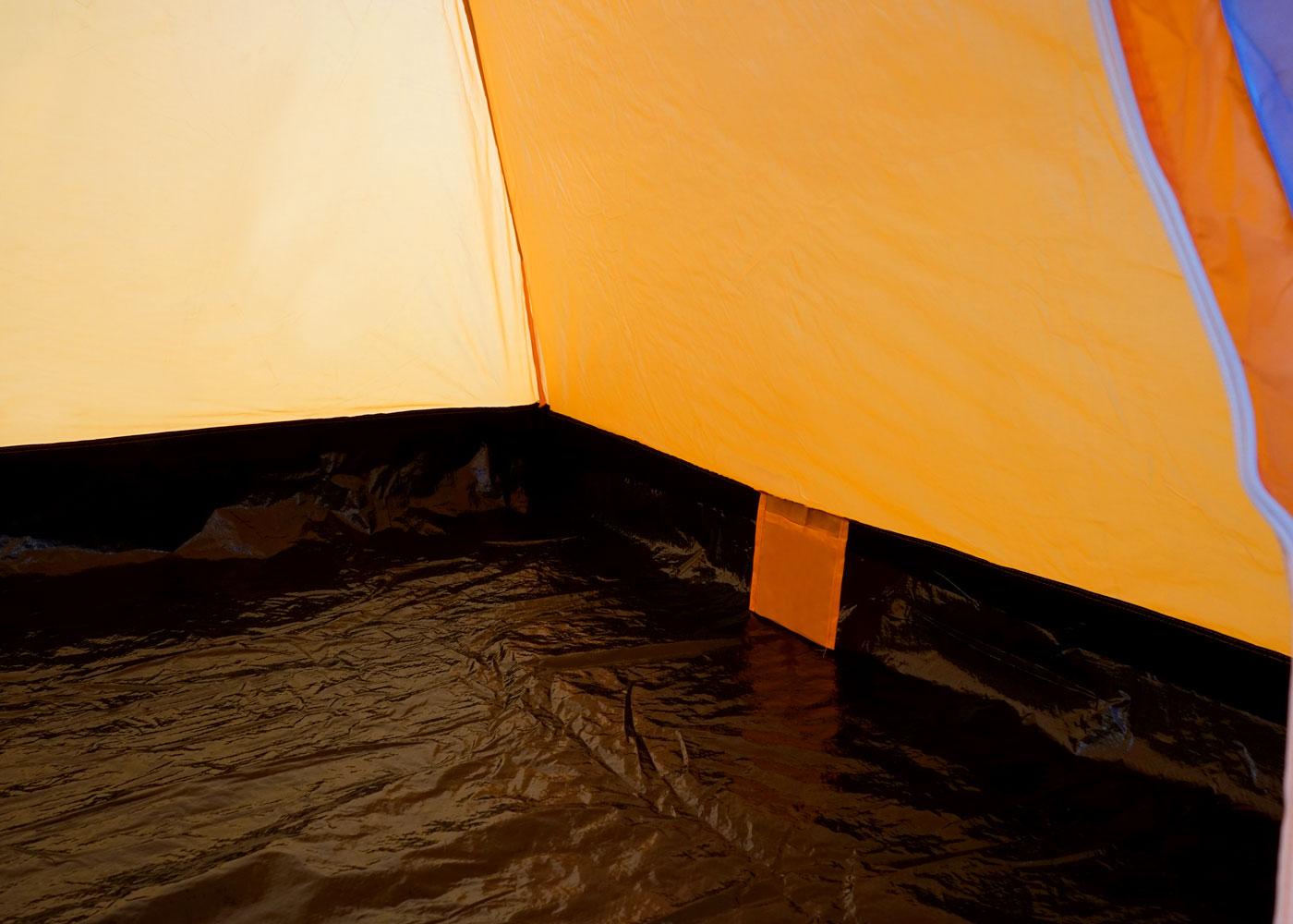 2-Mann Kuppelzelt Igluzelt Festival-Zelt 2 Personen orange Campingzelt Laagri