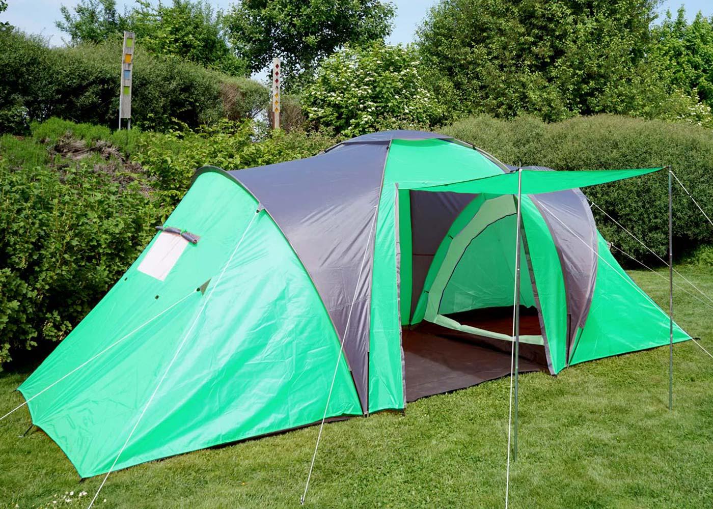 campingzelt loksa 4 mann zelt kuppelzelt igluzelt festival zelt 4 personen gr n. Black Bedroom Furniture Sets. Home Design Ideas