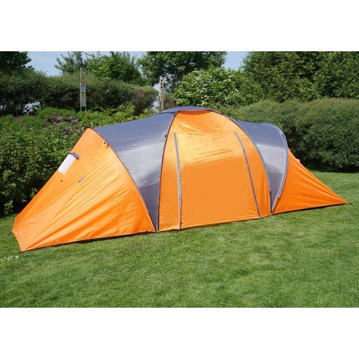 Iglu Zelt Campingzelt Garten Camping Festival für 2 Personen Anthrazit Orange
