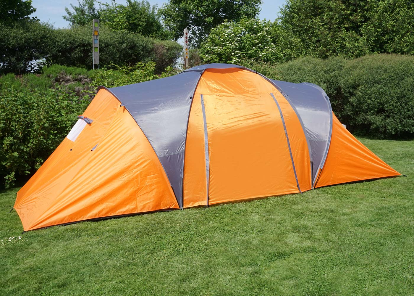 Campingzelt Loksa 2 Personen orange 2-Mann Kuppelzelt Igluzelt Festival-Zelt