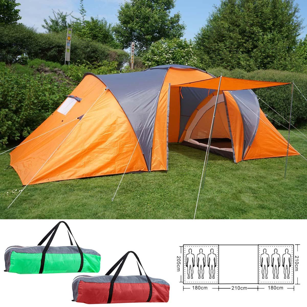 Mendler Campingzelt Loksa, 6-Mann Zelt Kuppelzelt Igluzelt Festival-Zelt, 6 Personen ~ Variantenangebot 54534