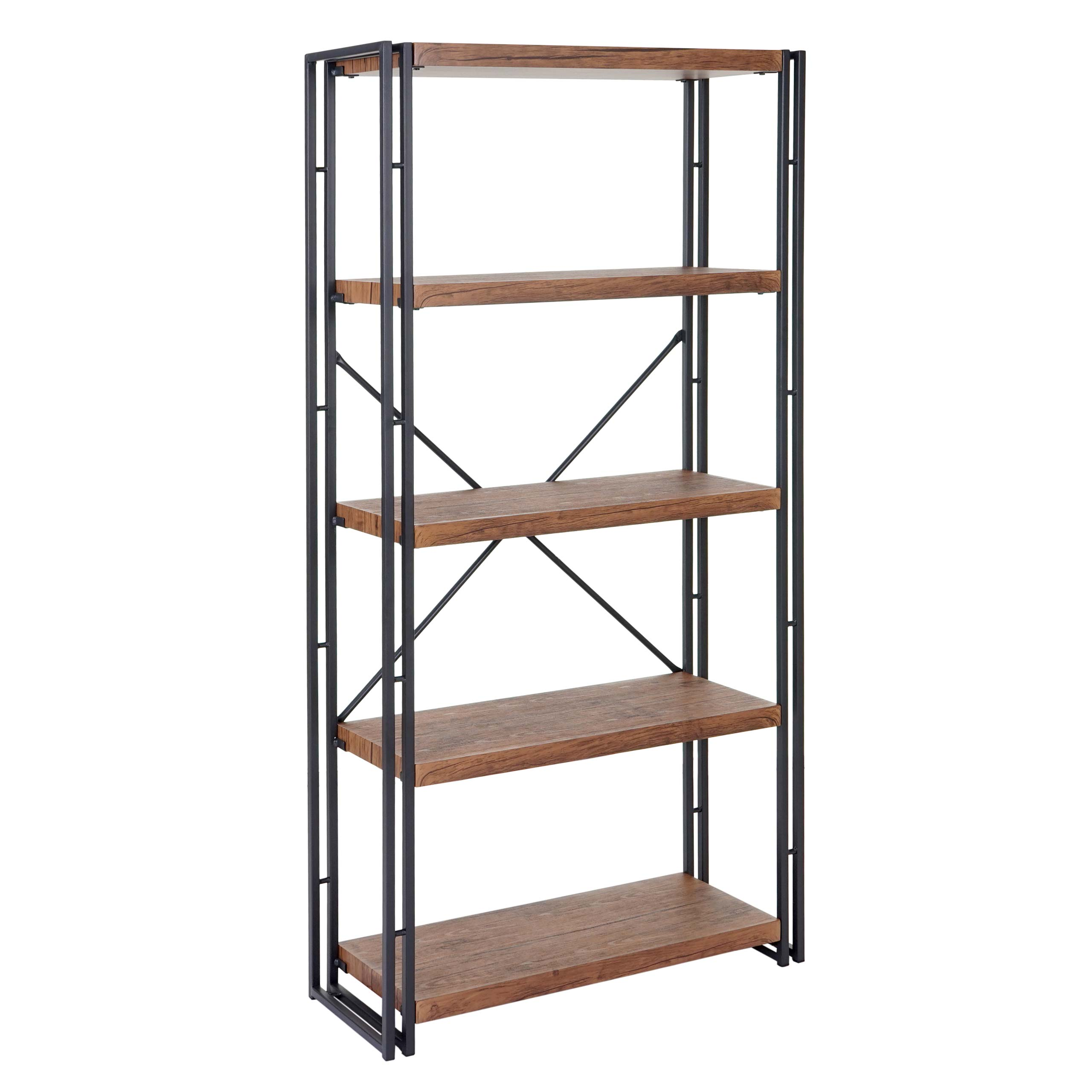 b cherregal hwc a27 standregal wohnregal 3d struktur. Black Bedroom Furniture Sets. Home Design Ideas