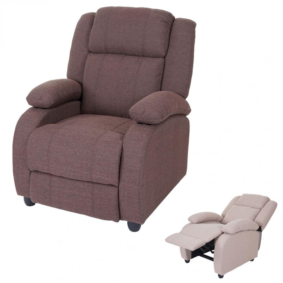 Fernsehsessel Lincoln Relaxsessel Liege Sessel Textil