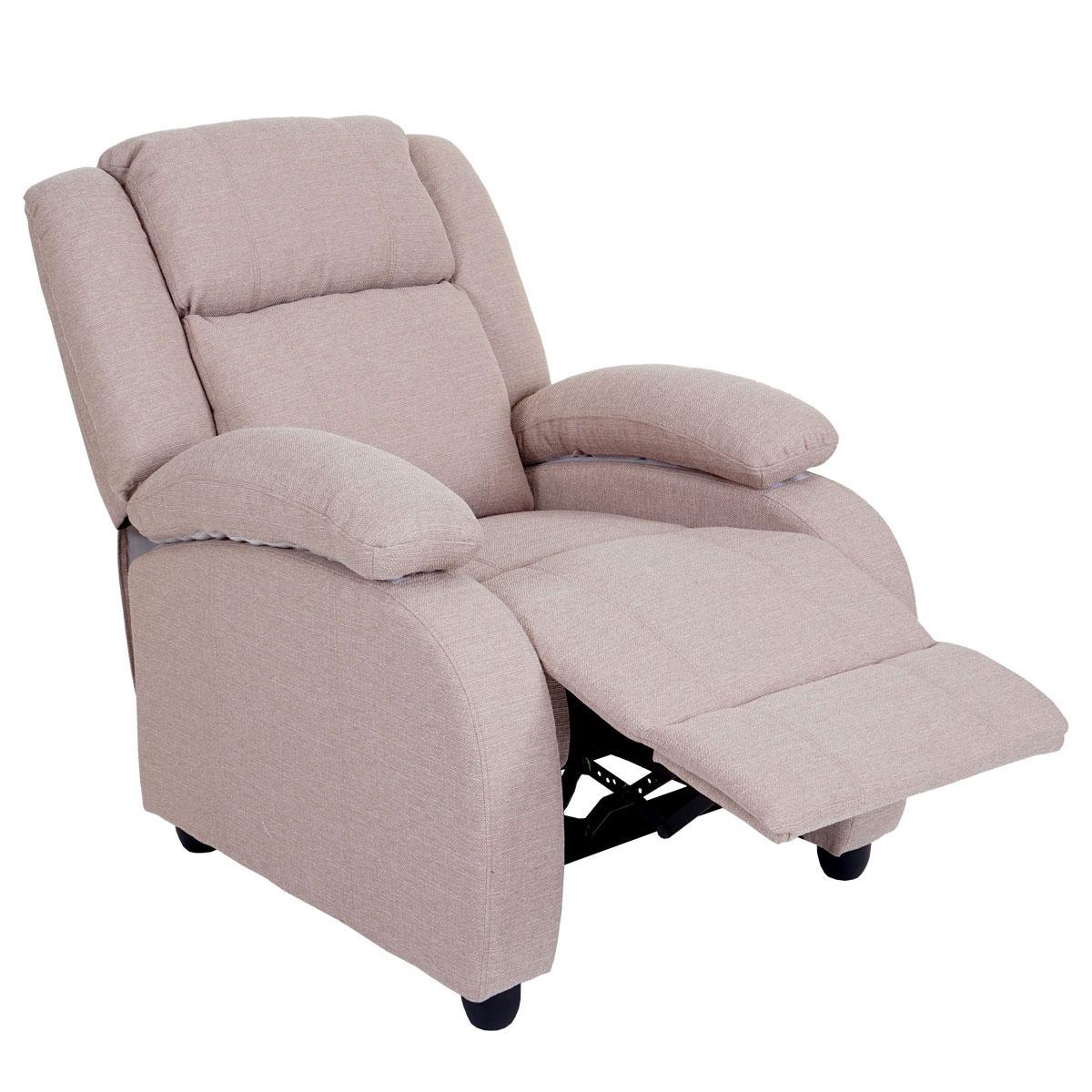 Eitelkeit Fernsehsessel Stoff Foto Von Lincoln, Relaxsessel Liege Sessel, Stoff/textil ~ Creme-grau