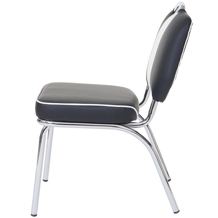 2x esszimmerstuhl avellino stuhl lehnstuhl retro 50er jahre design kunstleder schwarz wei. Black Bedroom Furniture Sets. Home Design Ideas
