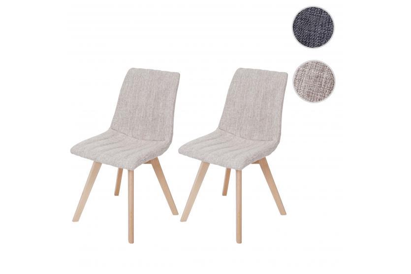 2x esszimmerstuhl calgary stuhl lehnstuhl retro 50er jahre design stoff textil creme. Black Bedroom Furniture Sets. Home Design Ideas