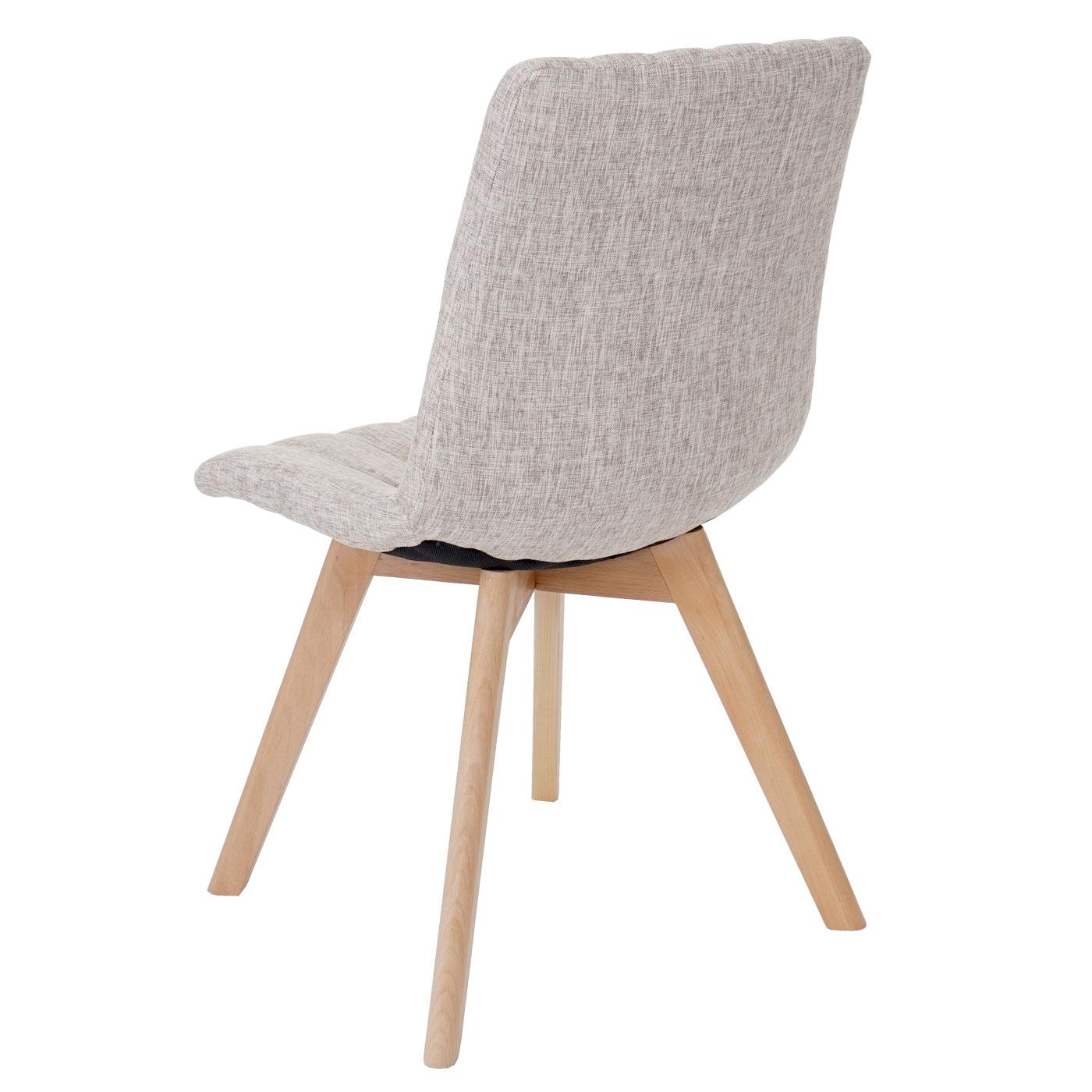 2x chaise de salle manger calgary fauteuil design r tro tissu cr me ebay. Black Bedroom Furniture Sets. Home Design Ideas