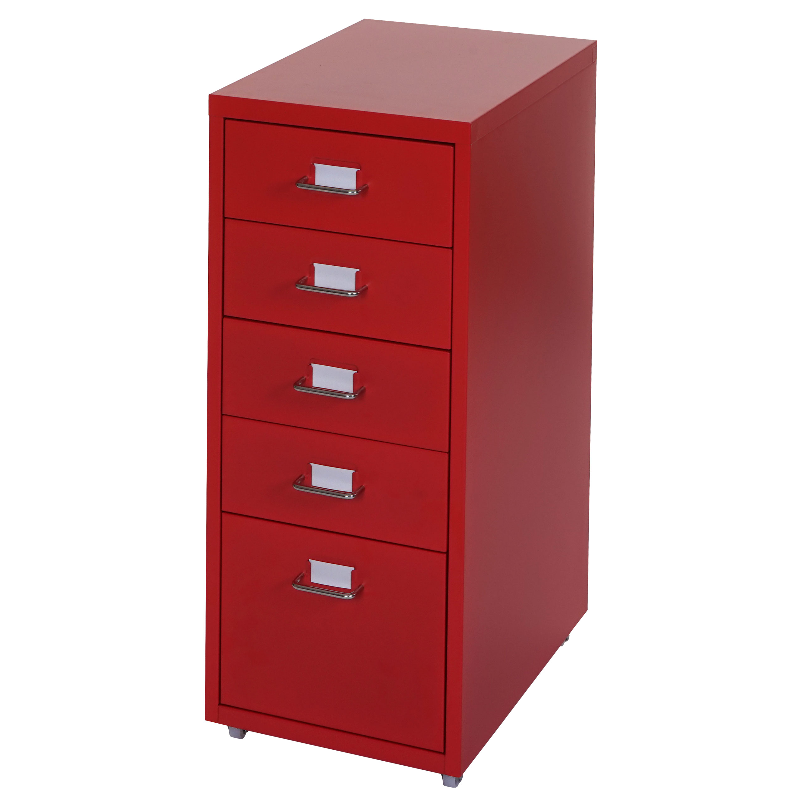 rollcontainer boston t851 schubladenschrank stahlschrank 69x28x44cm 5 schubladen rot. Black Bedroom Furniture Sets. Home Design Ideas