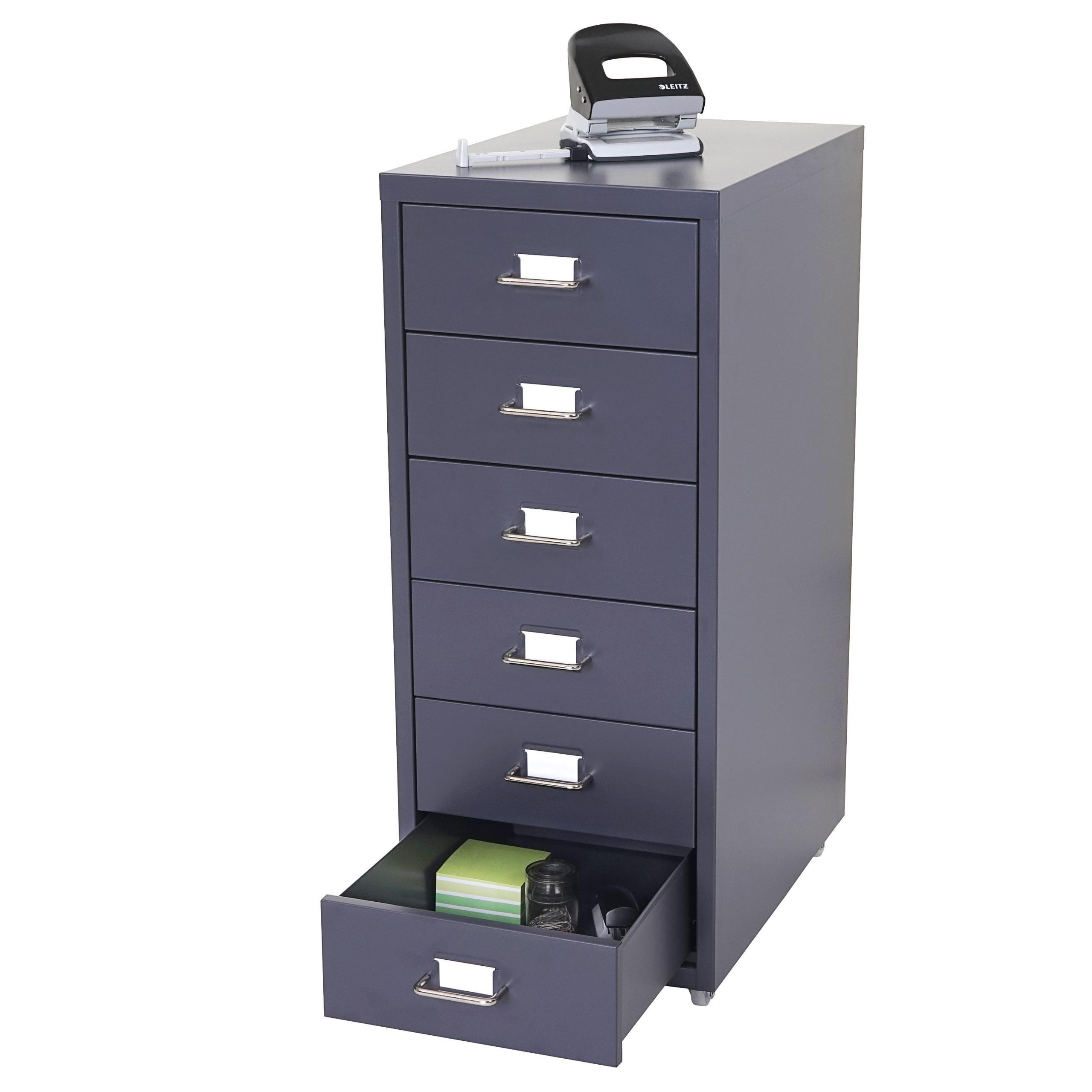 Cassettiera armadietto ufficio boston t851 ruote con 5 6 for Armadietto da ufficio