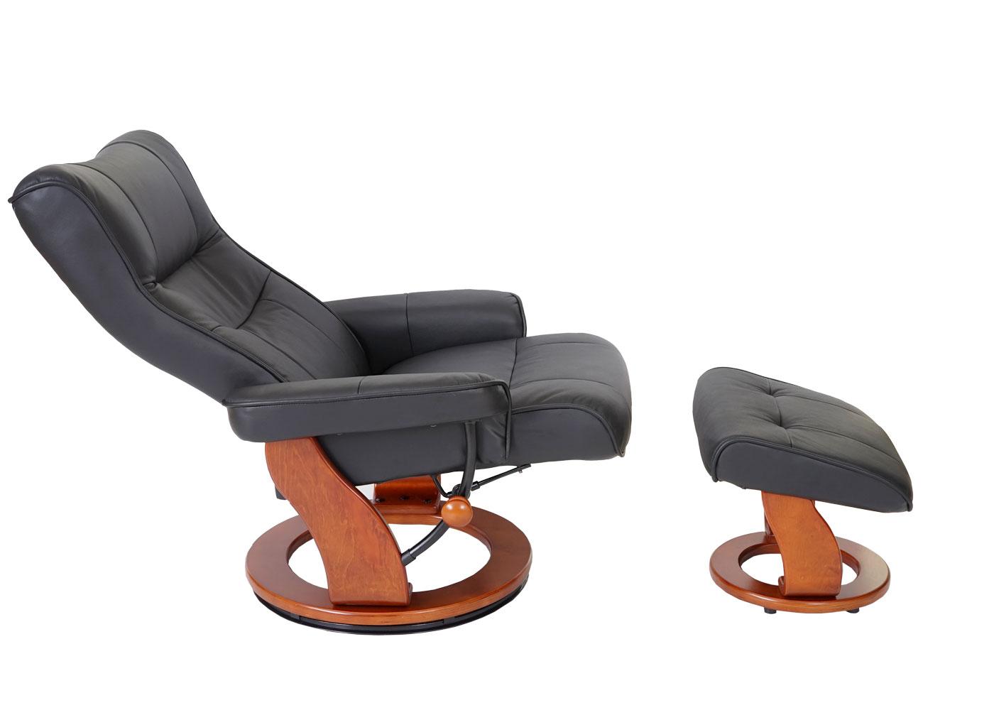 Leder Relaxsessel TV Sessel Mit Hocker Relaxliege