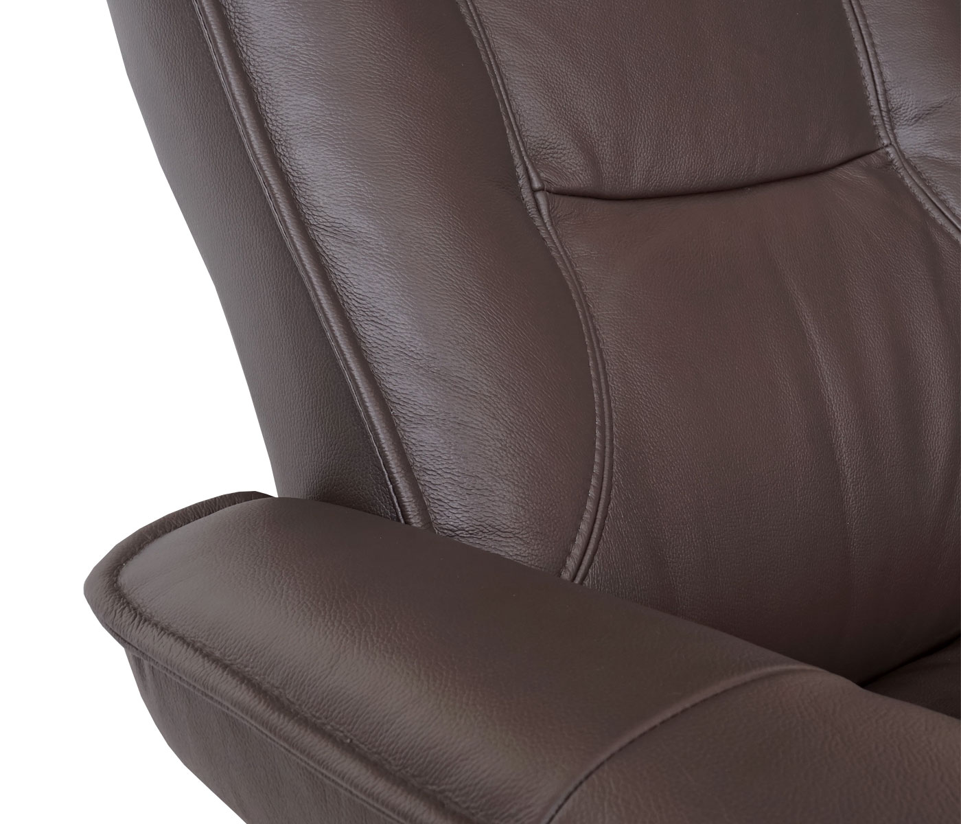 leder relaxsessel 360 drehbar mit hocker tv sessel fernsehsessel braun 56051 ebay. Black Bedroom Furniture Sets. Home Design Ideas
