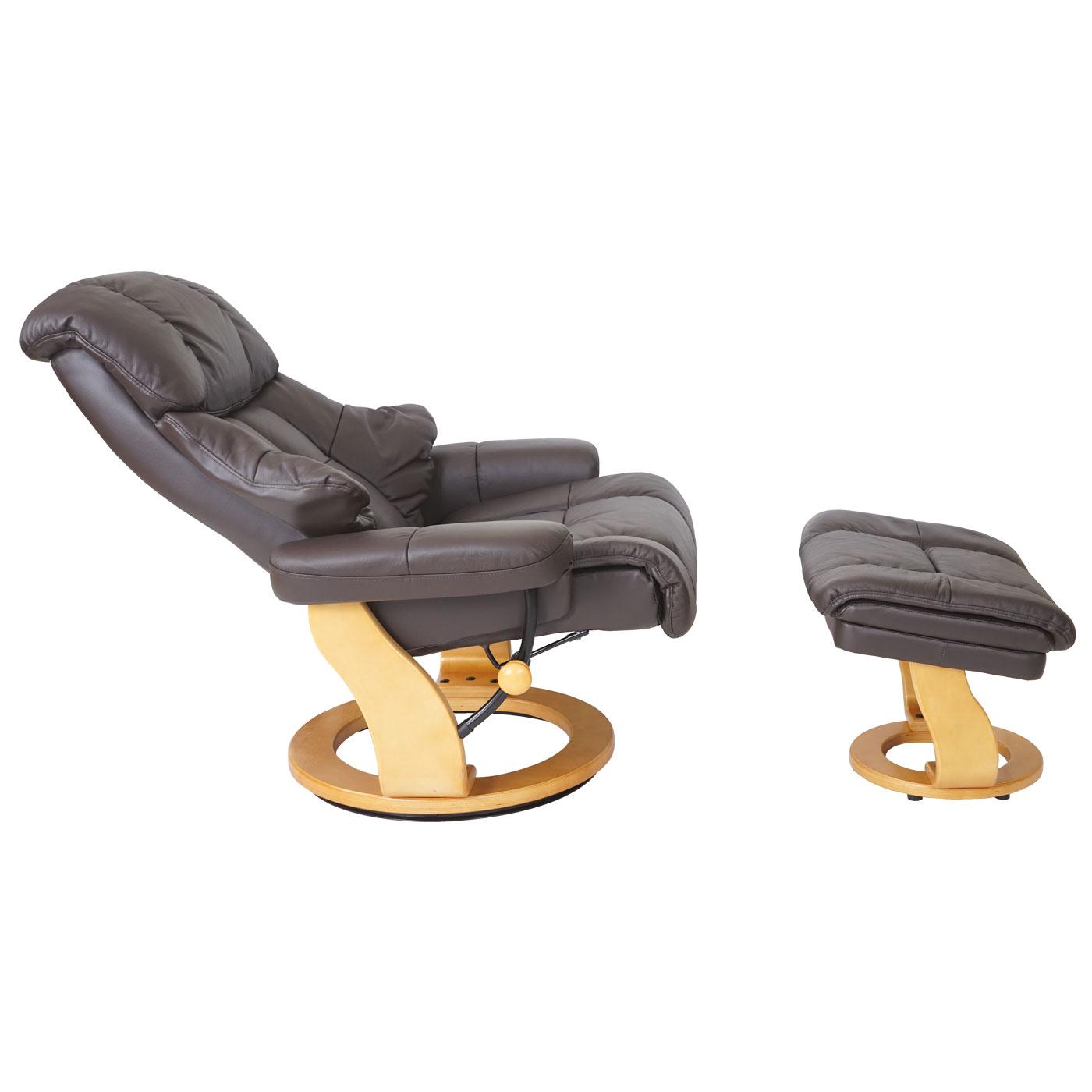 leder xxl relaxsessel tv sessel hocker 180kg belastb fernsehsessel braun 56054 ebay. Black Bedroom Furniture Sets. Home Design Ideas