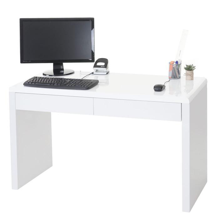 Schreibtisch design weiß  Schreibtisch Edmonton, Bürotisch Computertisch, hochglanz 120x50cm ...