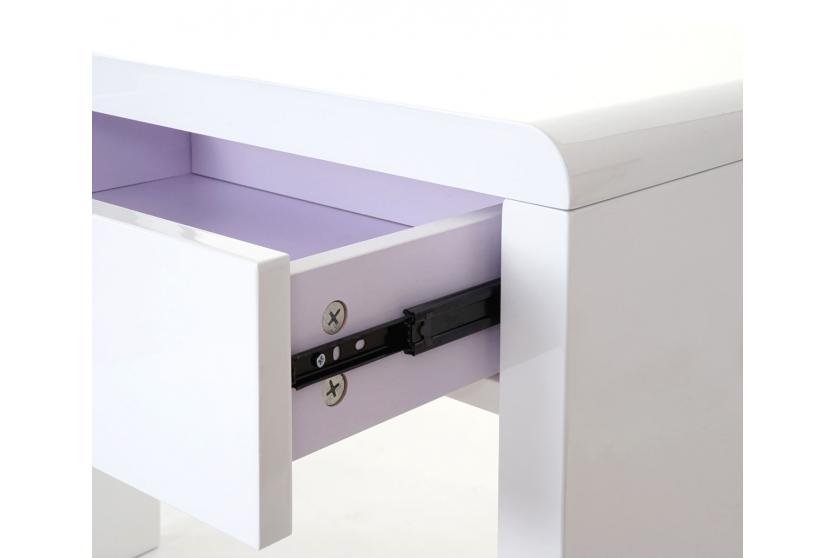 design schreibtisch edmonton b rotisch computertisch hochglanz 120x50cm wei. Black Bedroom Furniture Sets. Home Design Ideas