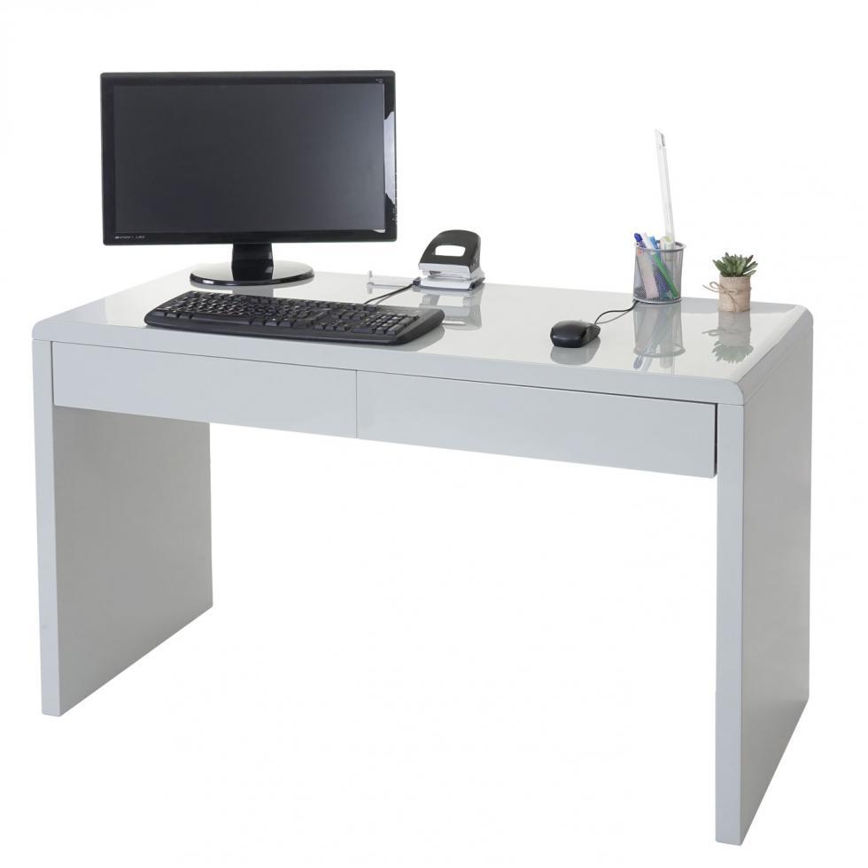 design schreibtisch collegno b rotisch computertisch hochglanz 120x50cm grau 4057651179735 ebay. Black Bedroom Furniture Sets. Home Design Ideas