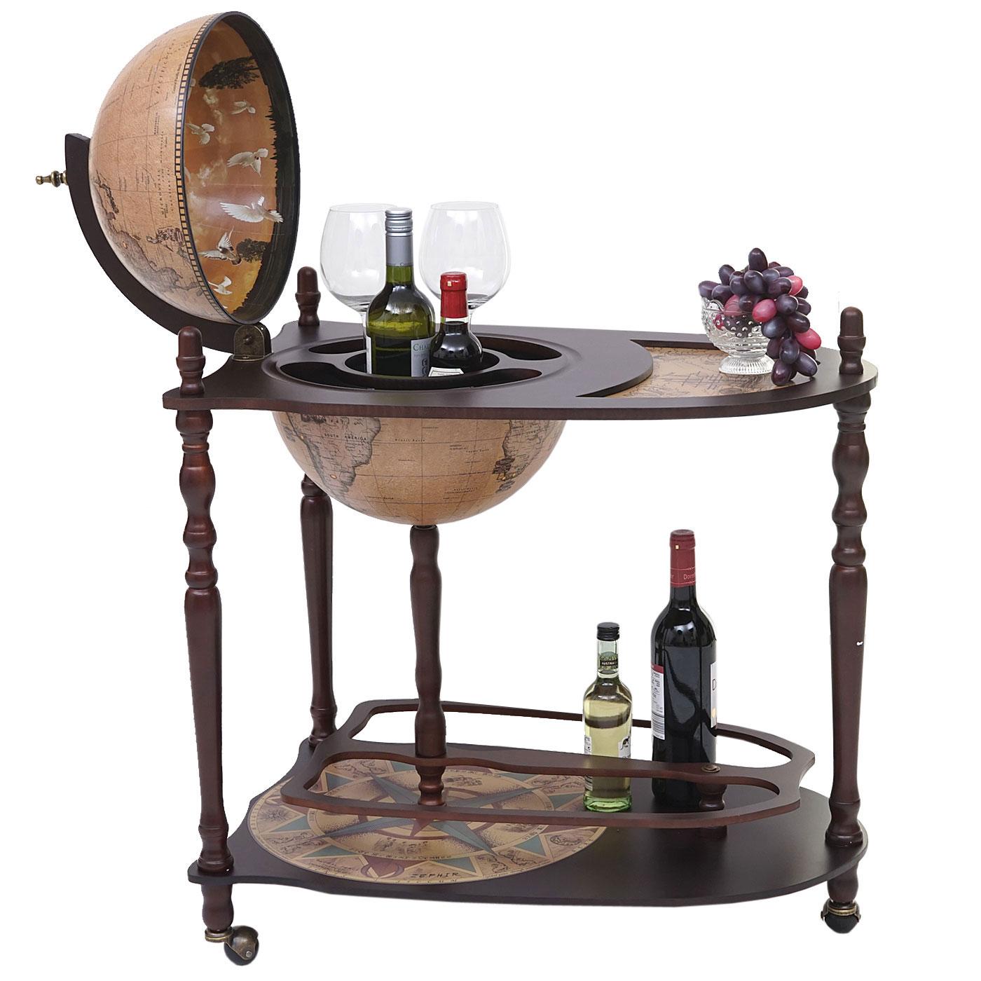 Globusbar mit Tisch MCW-T875, Minibar Hausbar, Weltkugel rollbar ...
