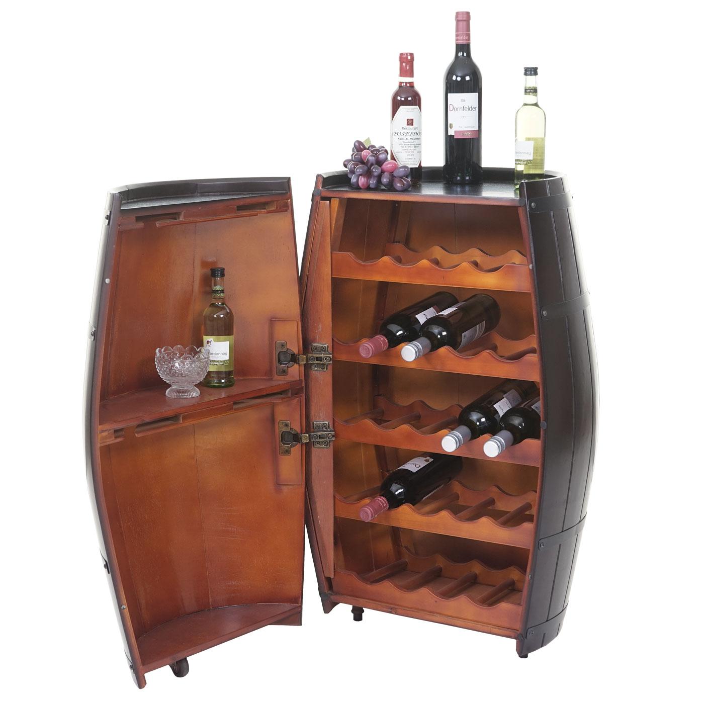 weinregal hwc t877 flaschenregal fass holzregal mit t r. Black Bedroom Furniture Sets. Home Design Ideas