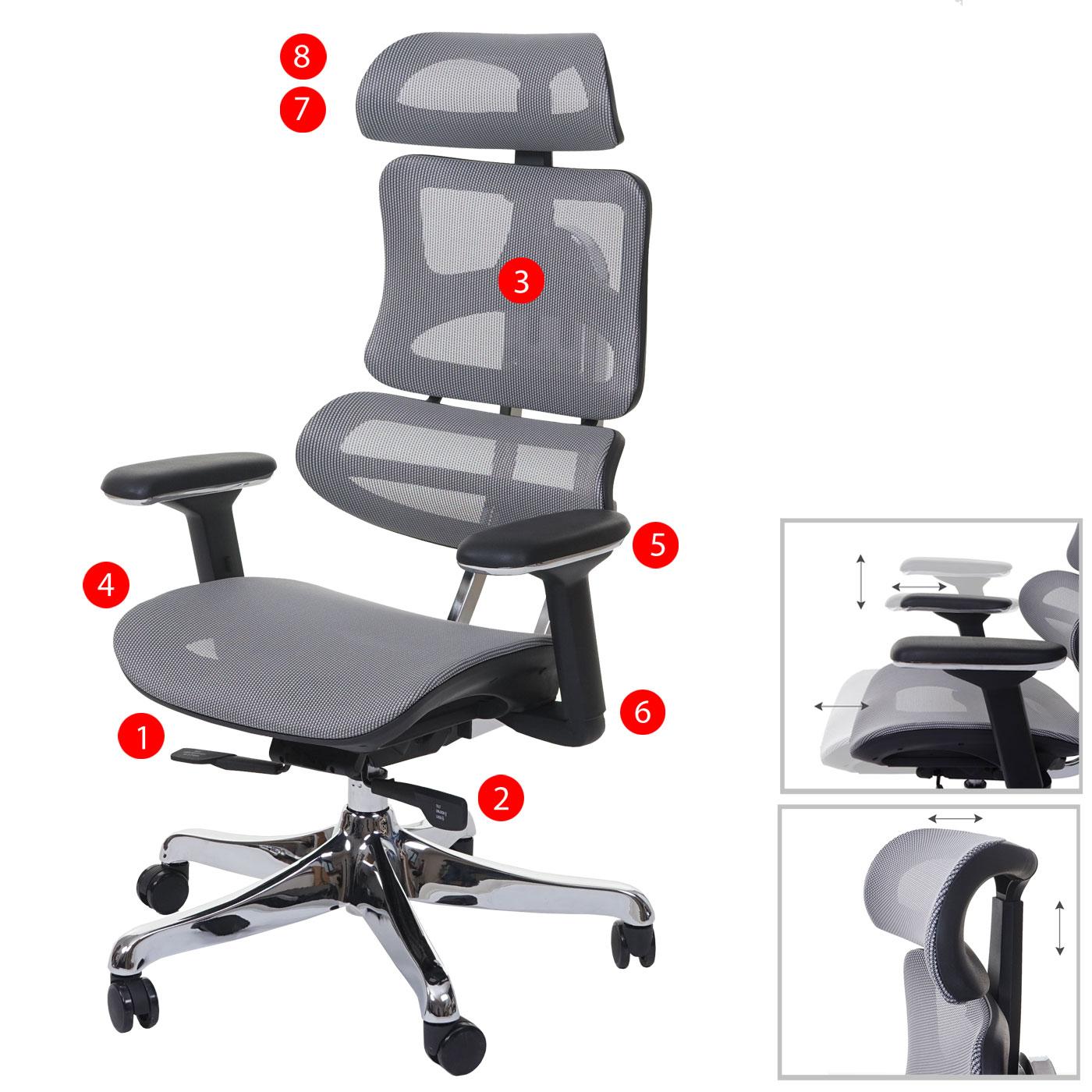 Bürostuhl MCW-A66, Schreibtischstuhl, Sliding-Funktion Textil ISO9001 ~ schwarz/grau