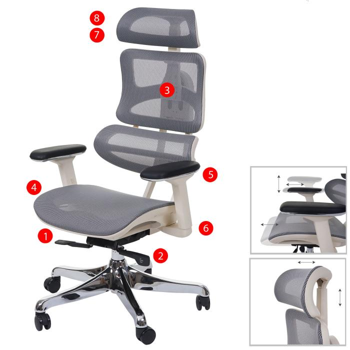 Burostuhl Hwc A66 Schreibtischstuhl Sliding Funktion Stoff Textil