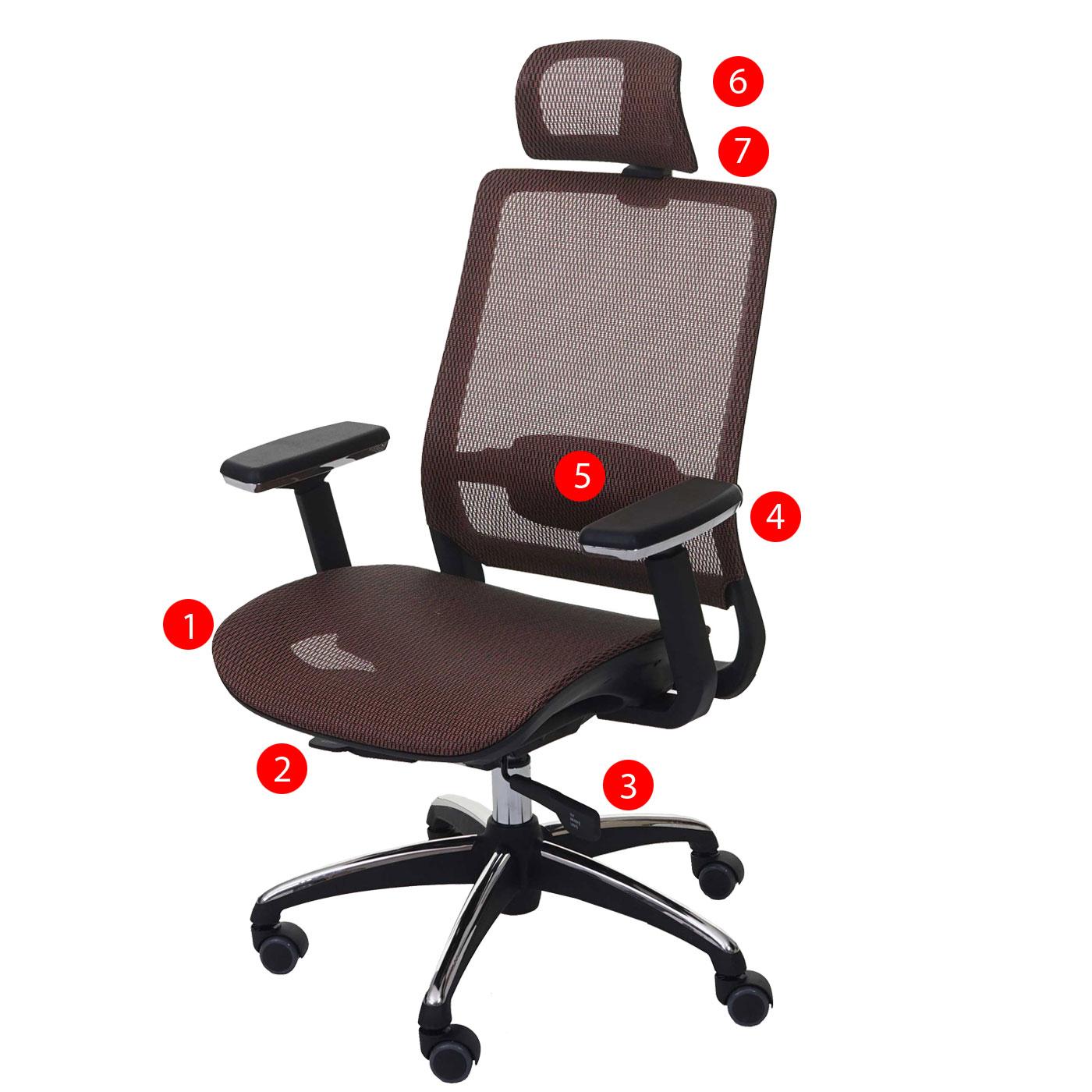 b rostuhl hwc a20 schreibtischstuhl ergonomisch kopfst tze textil iso9001 ebay. Black Bedroom Furniture Sets. Home Design Ideas
