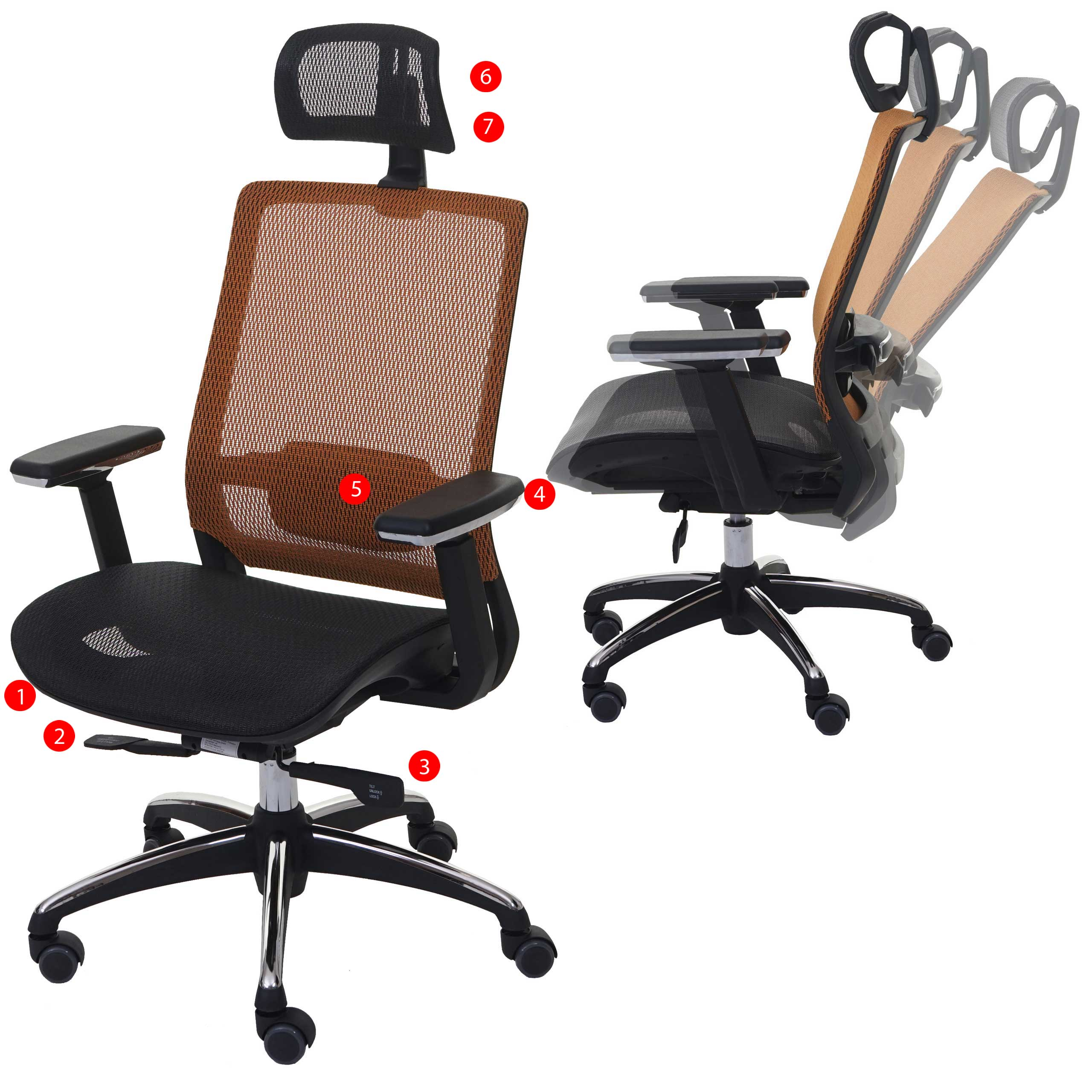 b rostuhl hwc a20 schreibtischstuhl ergonomisch. Black Bedroom Furniture Sets. Home Design Ideas