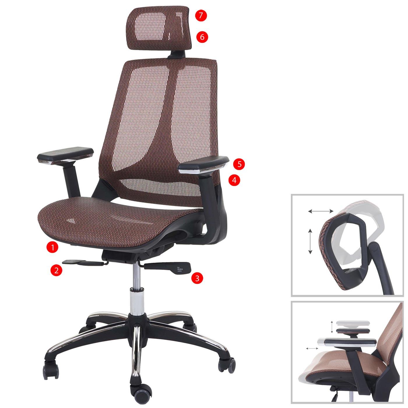 Bürostuhl MCW-A59, Schreibtischstuhl, Sliding-Funktion Textil ISO9001 ~ mandarin/mandarin